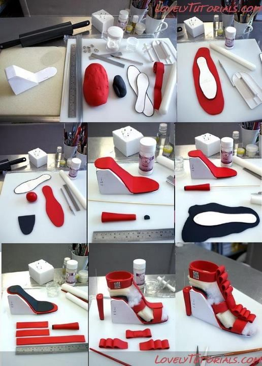 How To Make A Shoe Cake Topper