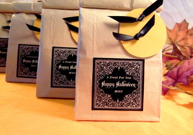 Halloween Treat Bags Halloween candy bags, Candy bags and - halloween treat bag ideas