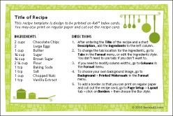 10 Tips For Writing Your Own Original Recipes Printable Recipe Cards Recipe Cards Template Recipe Template