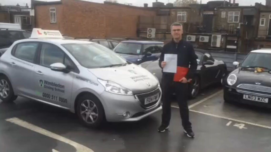 Well done to Luciano Bohn from #Battersea who passed his test in #Morden.