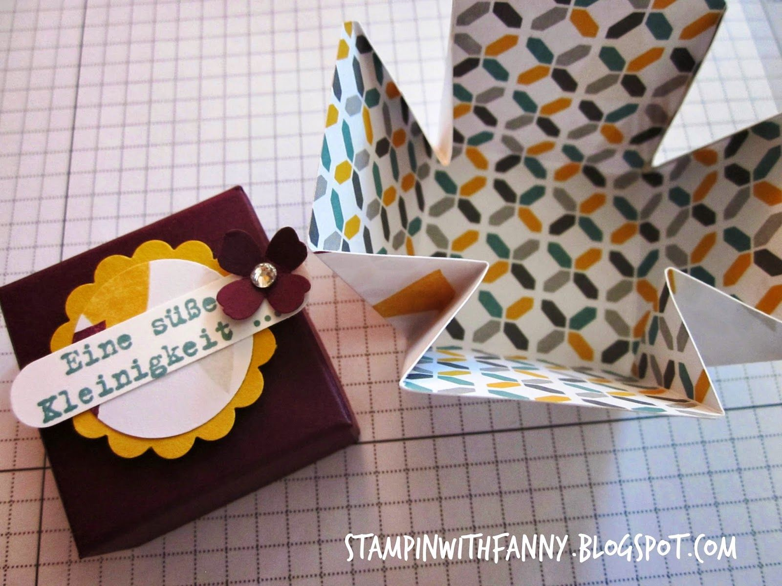 """stampin with fanny: Anleitung """"Mini-Exploding-Box"""""""
