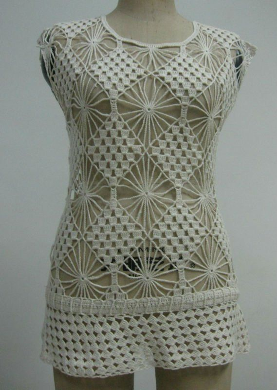 Parte superior de ganchillo. Blusa de ganchillo-Cordón ... | Vestir ...