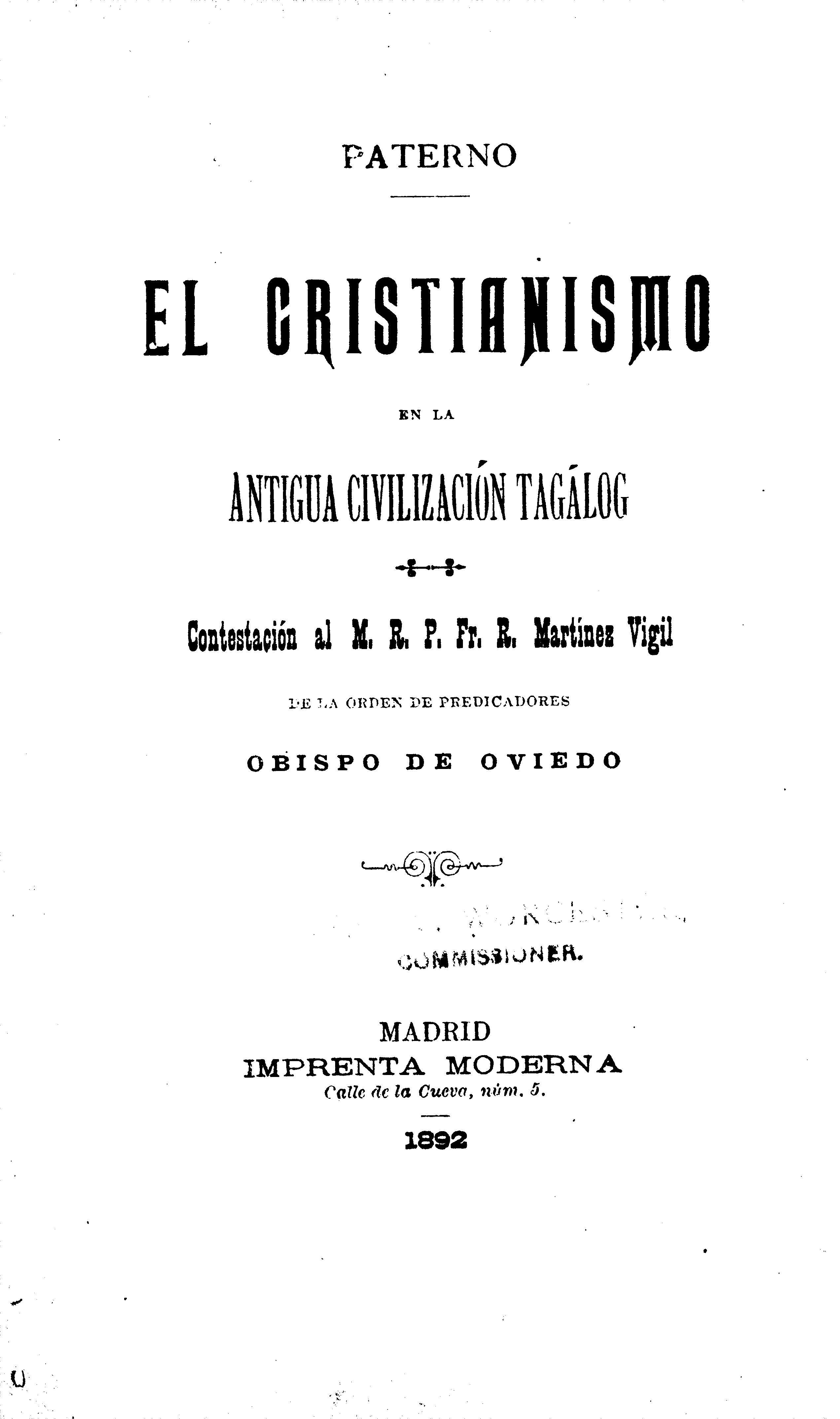 el cristianismo en la antigua civilizacion tagalog httpsarchiveorgdetailsafj22040001001 mga primaryang sanggunian sa kasaysayan ng pilipinas