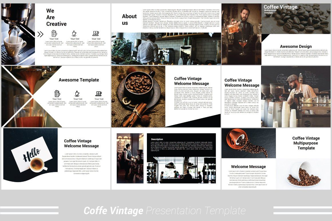 Coffee Vintage Powerpoint Template Powerpoint Templates Free Powerpoint Presentations Infographic Marketing