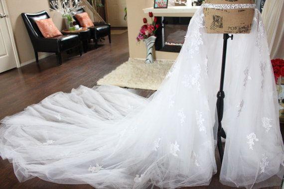 Applique Lace Detachable Train Removable Tulle Train Tulle Removable Train Lace Remo Tulle Bridal Skirts Diy Wedding Dress Detachable Train Wedding Dress