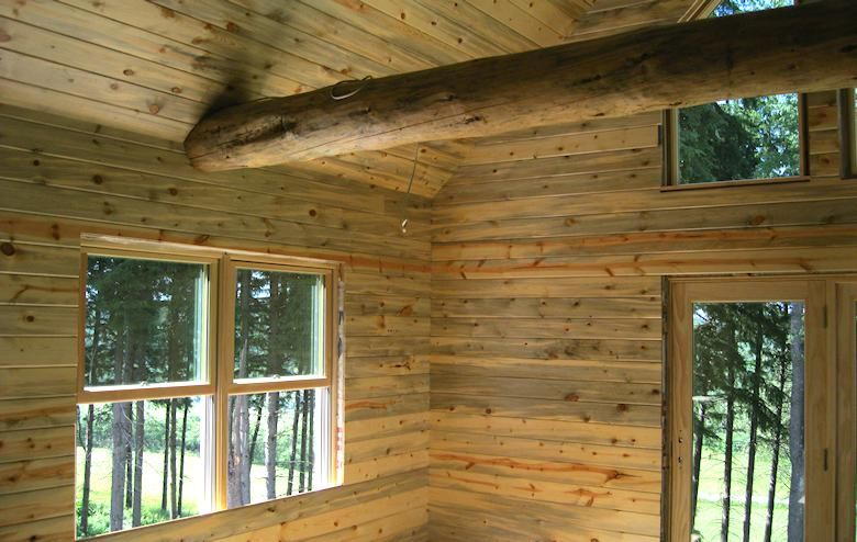 Blue Stain Pine Paneling With Uv Finish Building Ideas