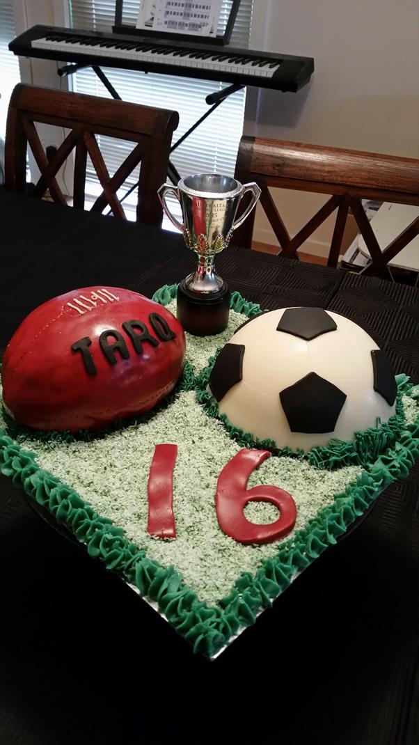 AFL Football Soccer birthday cake