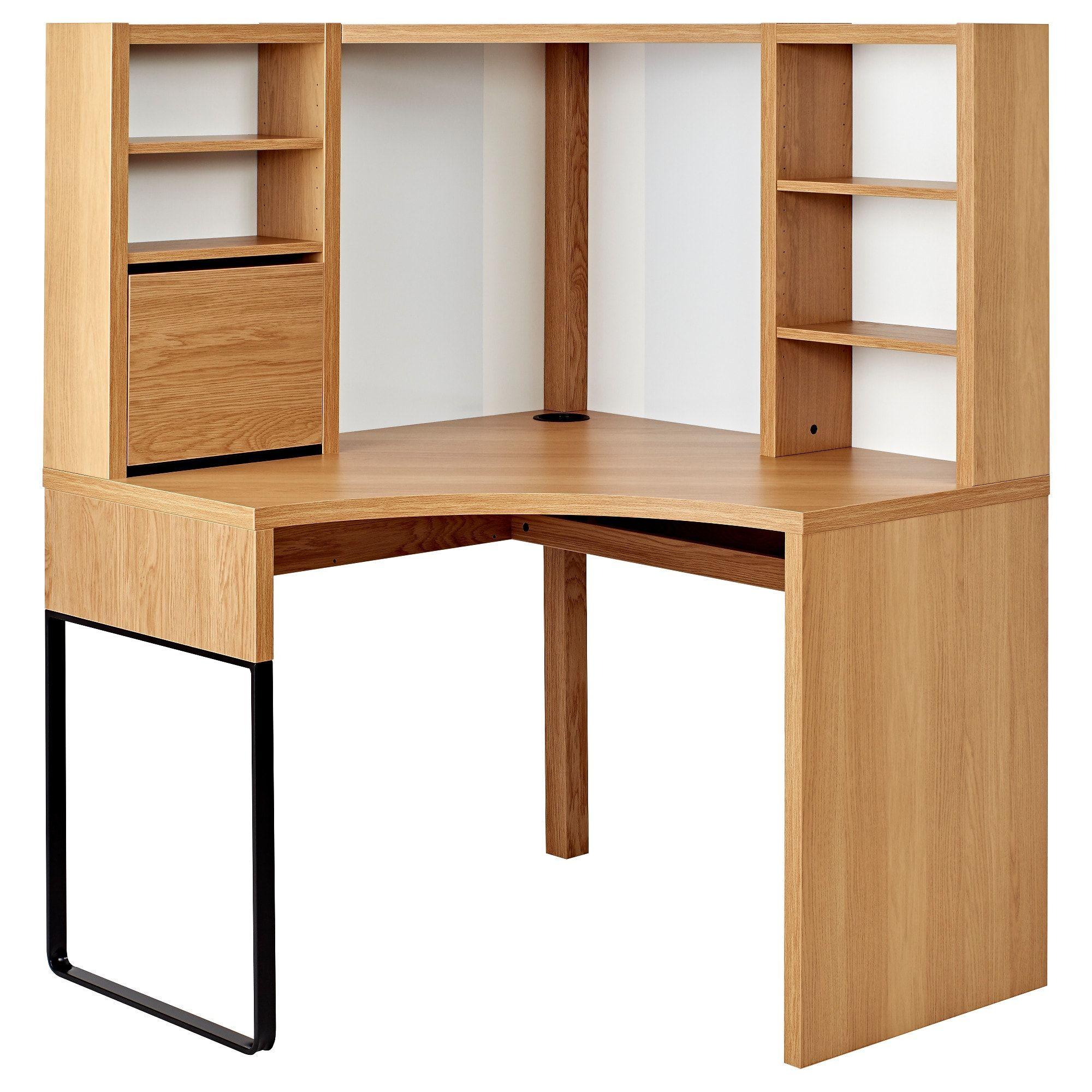Corner Dressing Table Oak