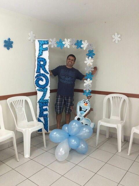 Marco para tomarse fotos frozen marcos para fiestas for Decoracion de marcos para fotos