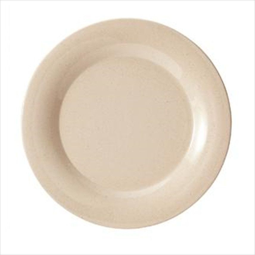 BambooMel 5.5 inch Wide Rim Plate BambooMelMEL/BAM/Case of 48