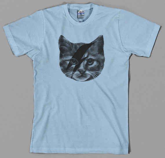 d16638baaa2 Ziggy Stardust Cat T Shirt