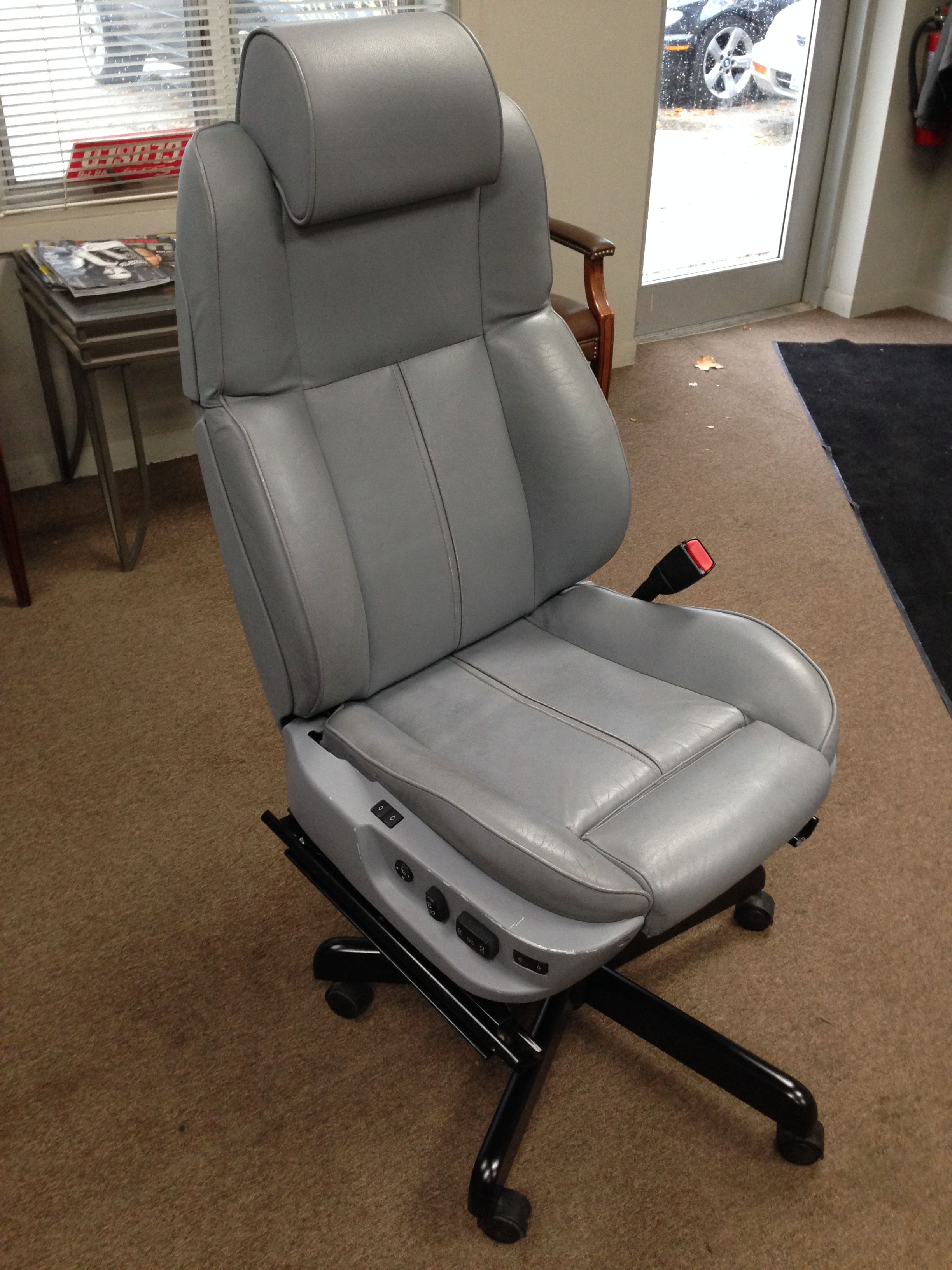 Office Chair Made From BMW 740i Front Seat Space Saving Desk Car Furniture