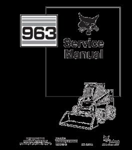 Best download bobcat 963 skid steer loader service repair