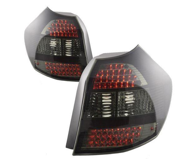 Bmw E87 1 Series 04 Black Smoked Led Style Rear Lights Black
