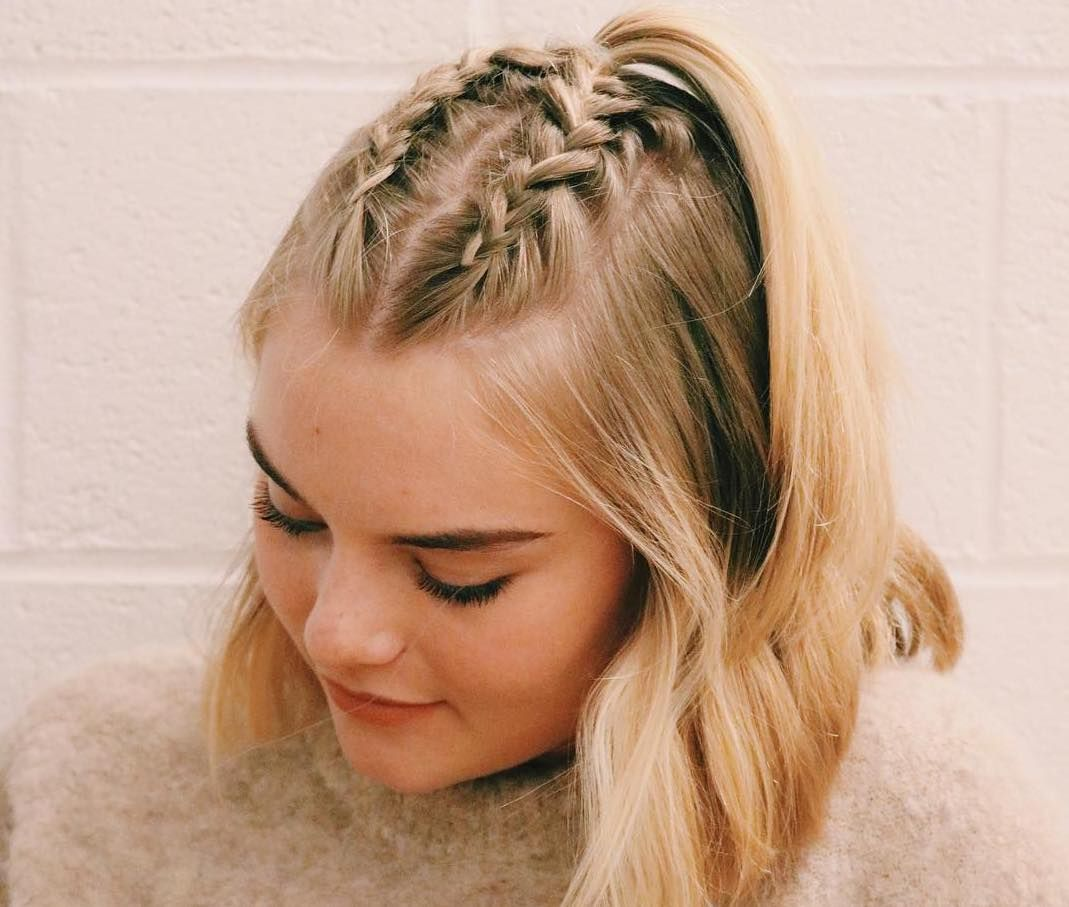 An Easy Braided Hairstyle For Any Occasion More Hair Styles Braided Hairstyles Easy Medium Long Hair