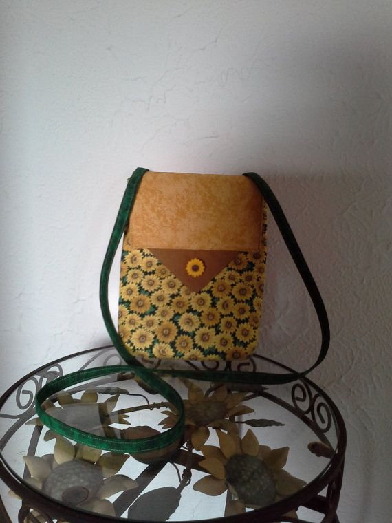 Green and Gold Sunflower Purse Style by babygirlscreations on Etsy, $28.00