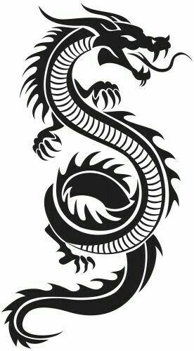 Dragón auto tatuaje con caracteres chinos Dragon china pegatinas auto