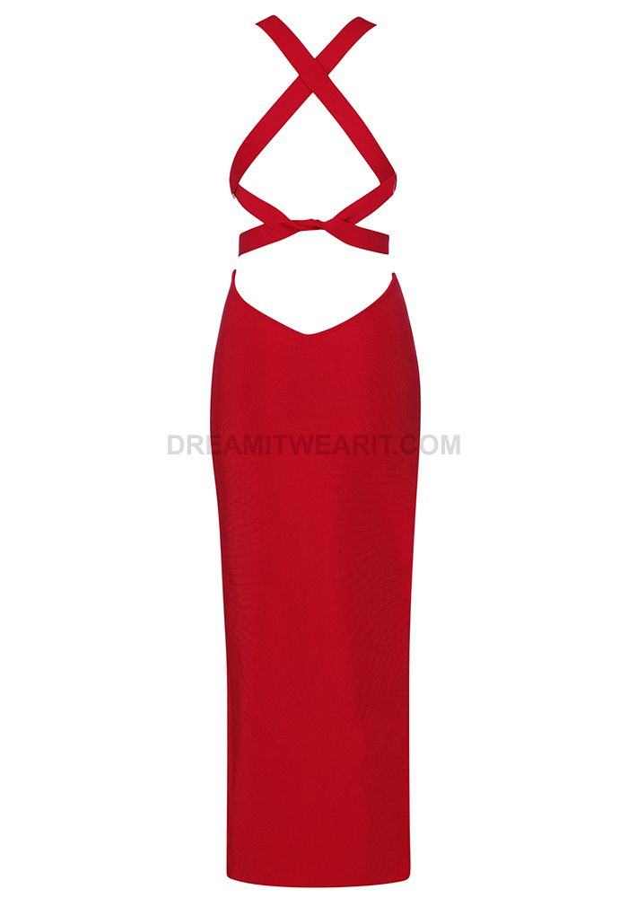 $149 / £119 / 139€ / AU$225 + Free Express Shipping Worldwide | Strappy Midi Dress Red #dress #womensfashion #bodycondress #bodycondresses #occasiondress #birthdaydress #birthdaydresses #celebritystyle #celebstyle #partydress #sexydress #sexydresses #partydresses #red #reddress #reddresses #midi #mididress #mididresses #strappy #strappydress #strappydresses #halter #halterdress #halterdresses