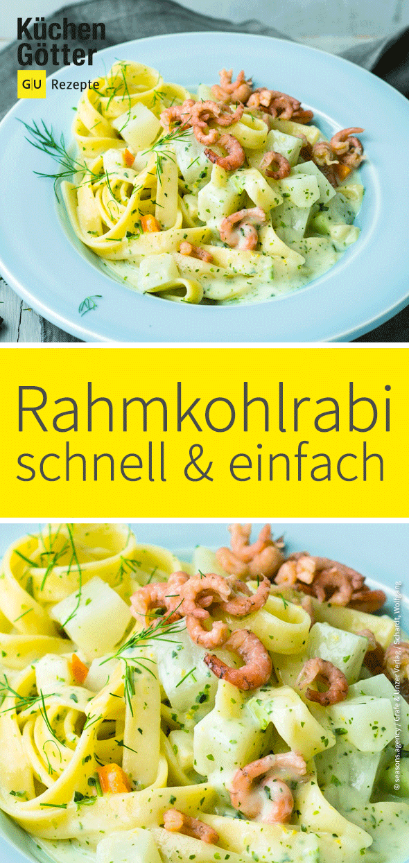 Photo of Rahmkohlrabi-Nudeln mit Krabben