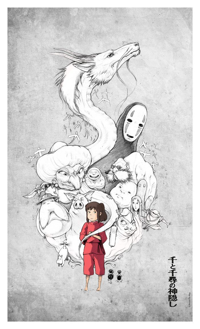 Le Voyage De Chihiro Personnages : voyage, chihiro, personnages, Personnages, Voyage, Chihiro, Studio, Ghibli,, Chihiro,, Dessin, Animé