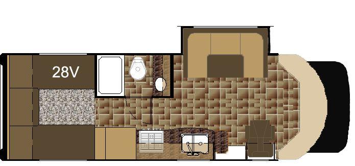 Nexus Rv Viper 28 V Floor Plan Class B Rv Nexus