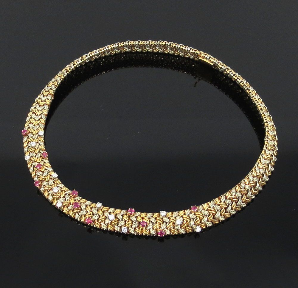 e8a8a2a7e Details about Vintage Tiffany & Co 30ct Diamond & 18K White Gold Wide Mesh  Bracelet | Jewels for Royalty | Black leather bracelet, Jewellery, Mesh  bracelet
