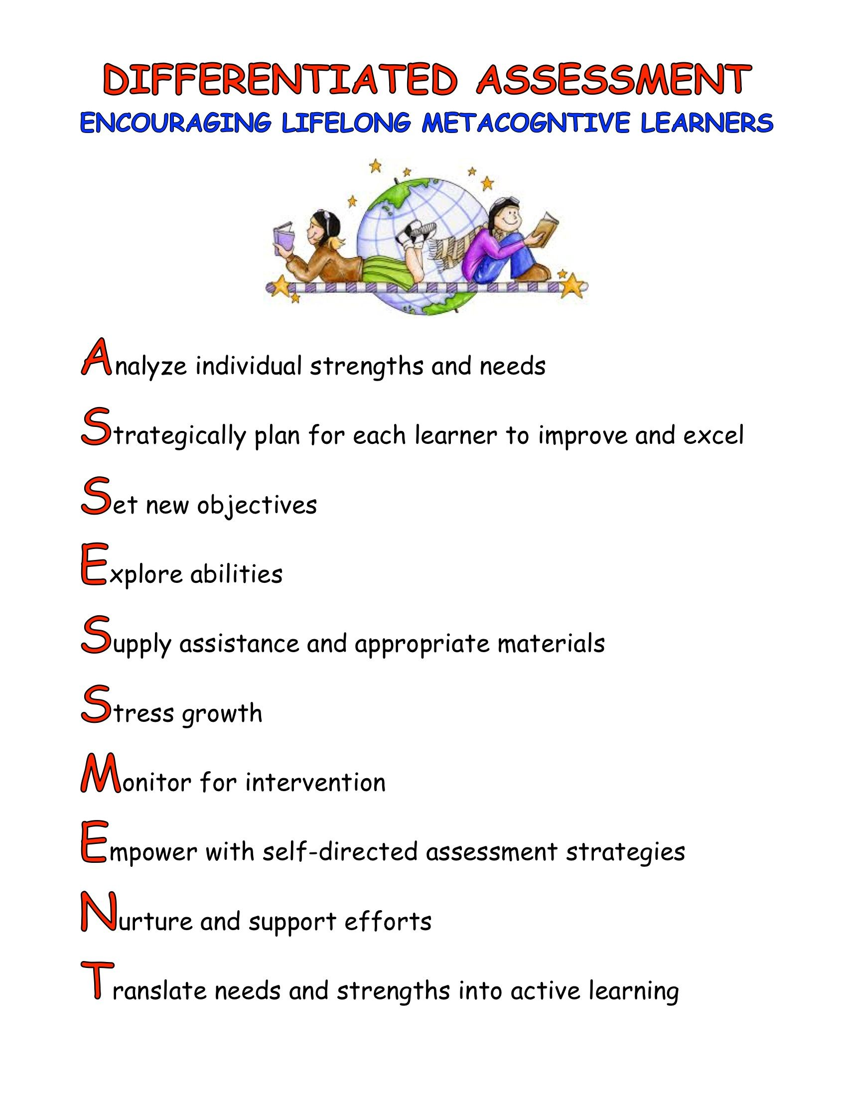 Assessment Acrostic  Education
