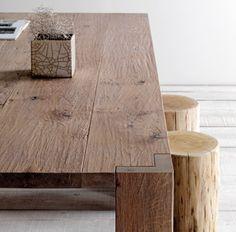 Tavolo legno Rovere piallato a mano Larice spazzolato Olmo naturale ...