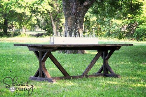 farmhouse table!!! from shanty-2-chic.com