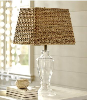 Ballard Designs Knock Off Seagrass Lamp Shade Wicker Lamp