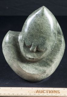 Unique Sculpture That Is Highly Polished Heavy Granite Stone With A Rough Natural Base Gentle Face Carvin Unique Sculptures Sculptures Statues Face Carving