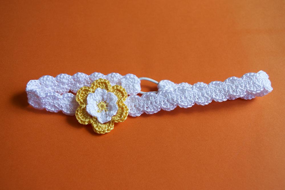 Diadema de ganchillo para beb crochet baby shoes - Diademas a crochet ...