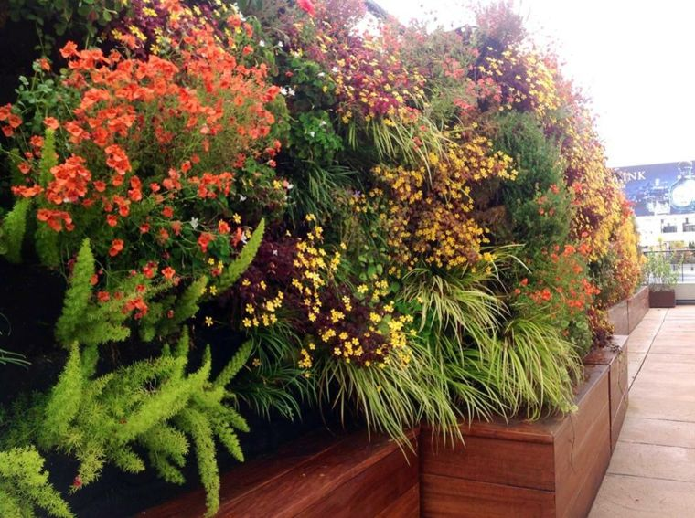 diseño de jardín vertical moderno Jardín vertical Pinterest - jardineras verticales