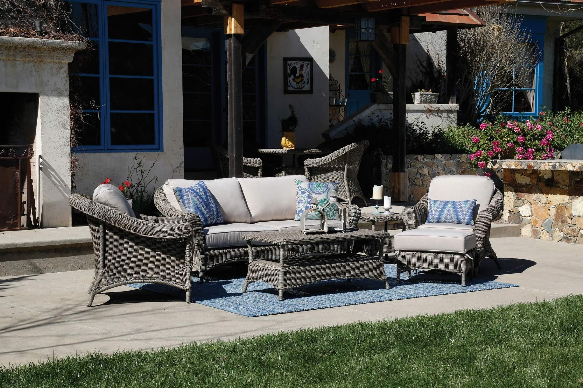 La Costa Sofa In Gray Sunset West Home Gallery Stores Sunset West Outdoor Furniture Sets Sofa Set