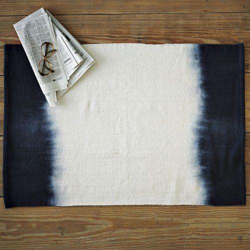 Tapetes con proceso Tie dye