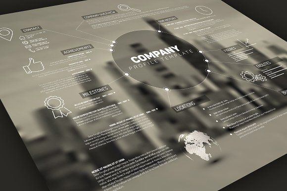 Company Profile Template By Orson On @creativemarket Design   Company  Profile Template Word Format