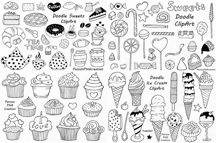big set of doodle sweets clipart pinterest sweets clipart rh pinterest co uk doodle clipart images doodle clipart black and white