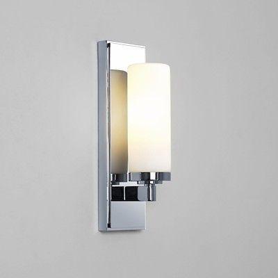 art deco bathroom lighting. Astro #savio Polished #chrome With #white Glass Art Deco Bathroom Wall Light Scon Lighting G