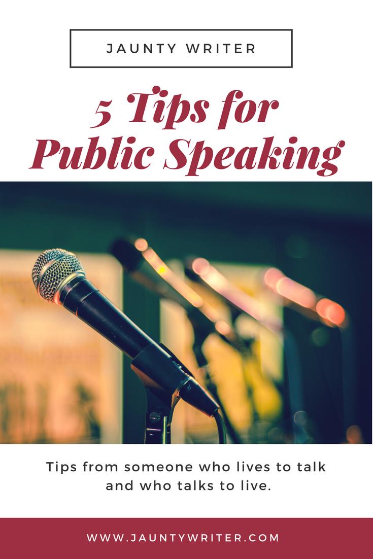 5 Tips for Public Speaking | Public speaking, Public ...