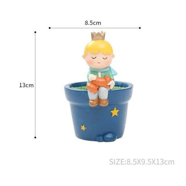 Photo of Cartoon Little Prince DIY Flower Pot Plants Resin Vase Succulent Planter Pot Bonsai Cactus Home Wedding Decoration Craft – C