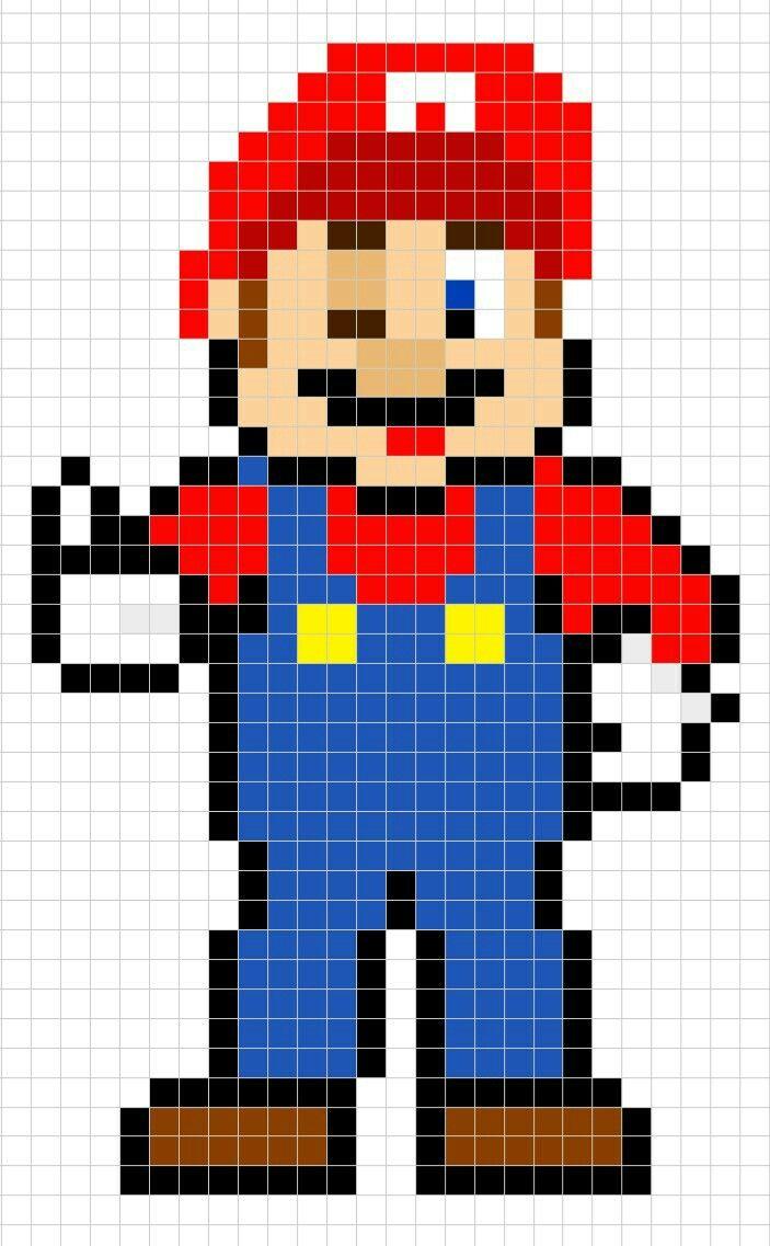 Super Mario Bros Pixel Art Pixel Art Easy Pixel Art Art