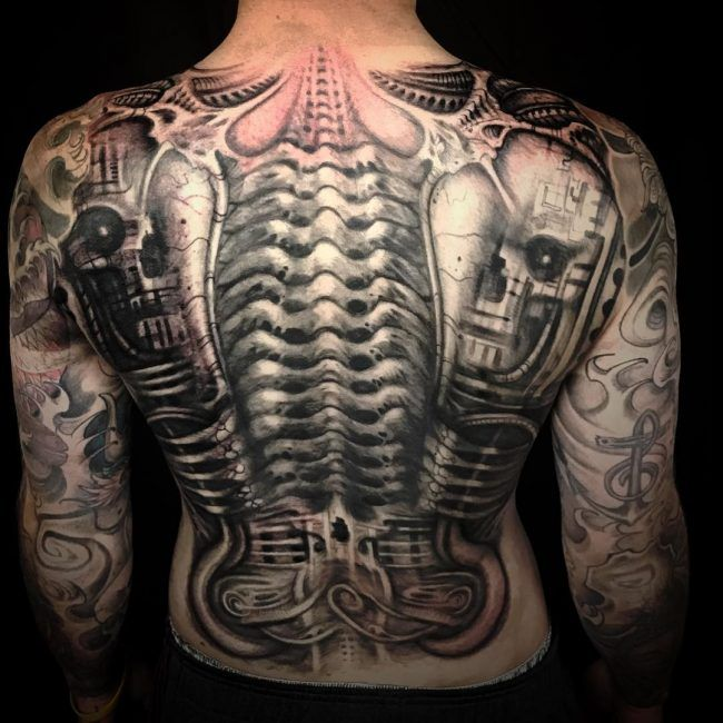 biomechanical giger tattoo - photo #16