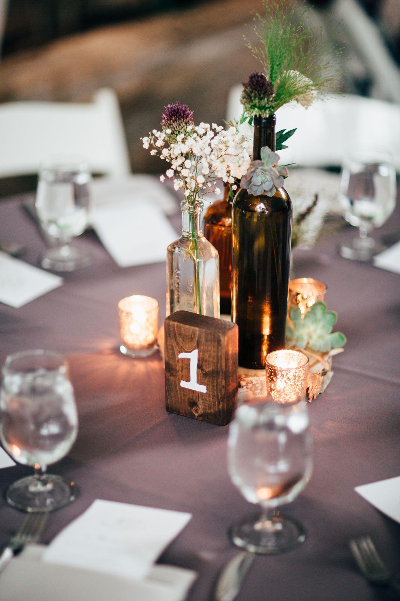 Natural Garden Party Wedding Wine Bottle Wedding Centerpieces Wine Bottle Centerpieces Wedding Wine Bottles