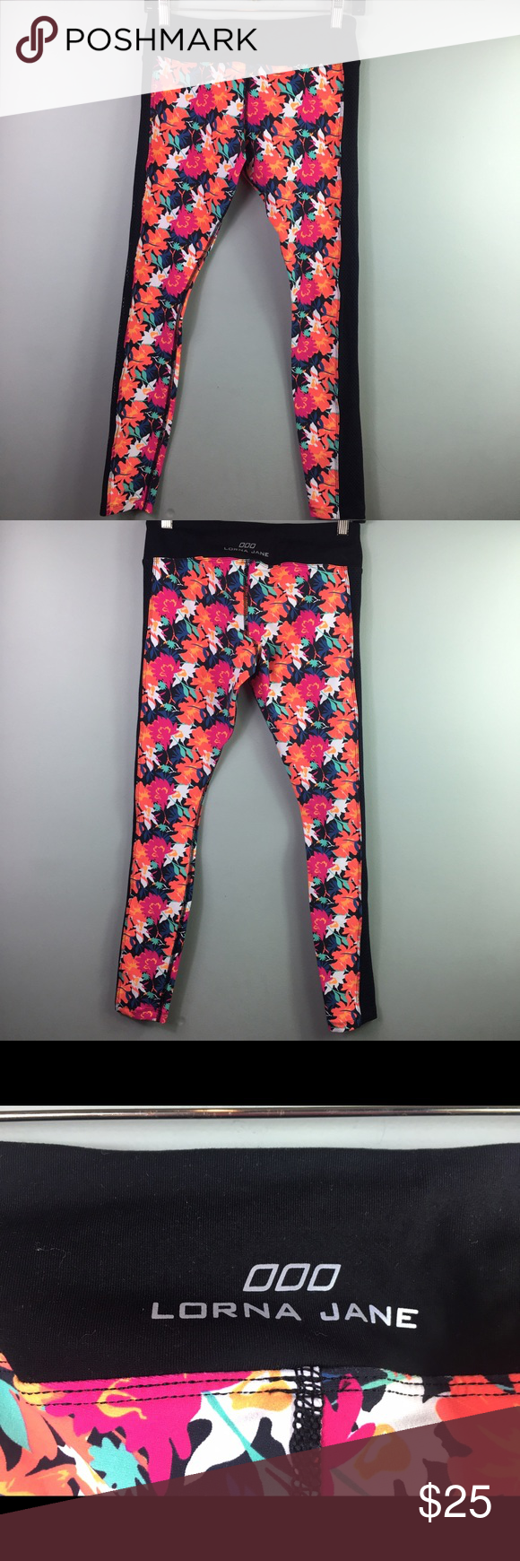 Women's Lorna Jane LJ Black Floral Leggings Size S Women's Lorna Jane LJ Black Floral Leggings Size Small. In Excellent Condition. No rips or stains. Like new! Lorna Jane Pants Leggings