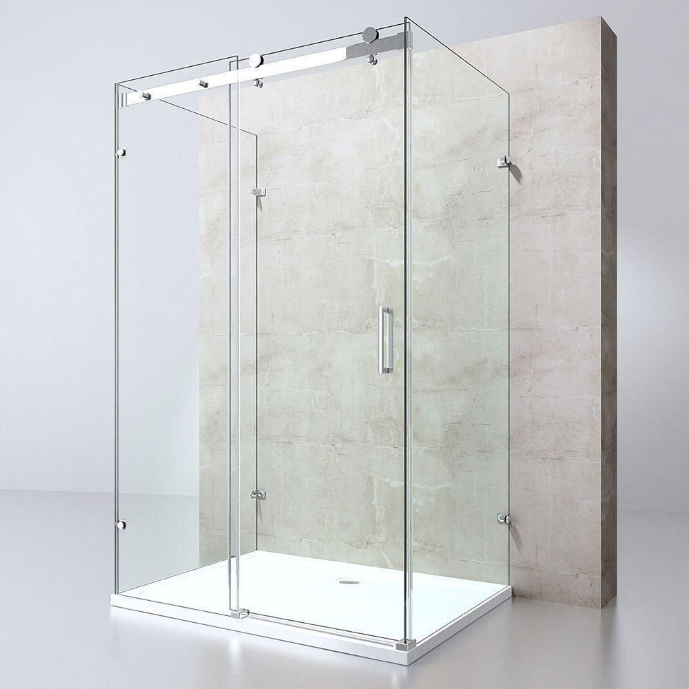 Details about Durovin U Shape Frameless Designer Shower Enclosure ...