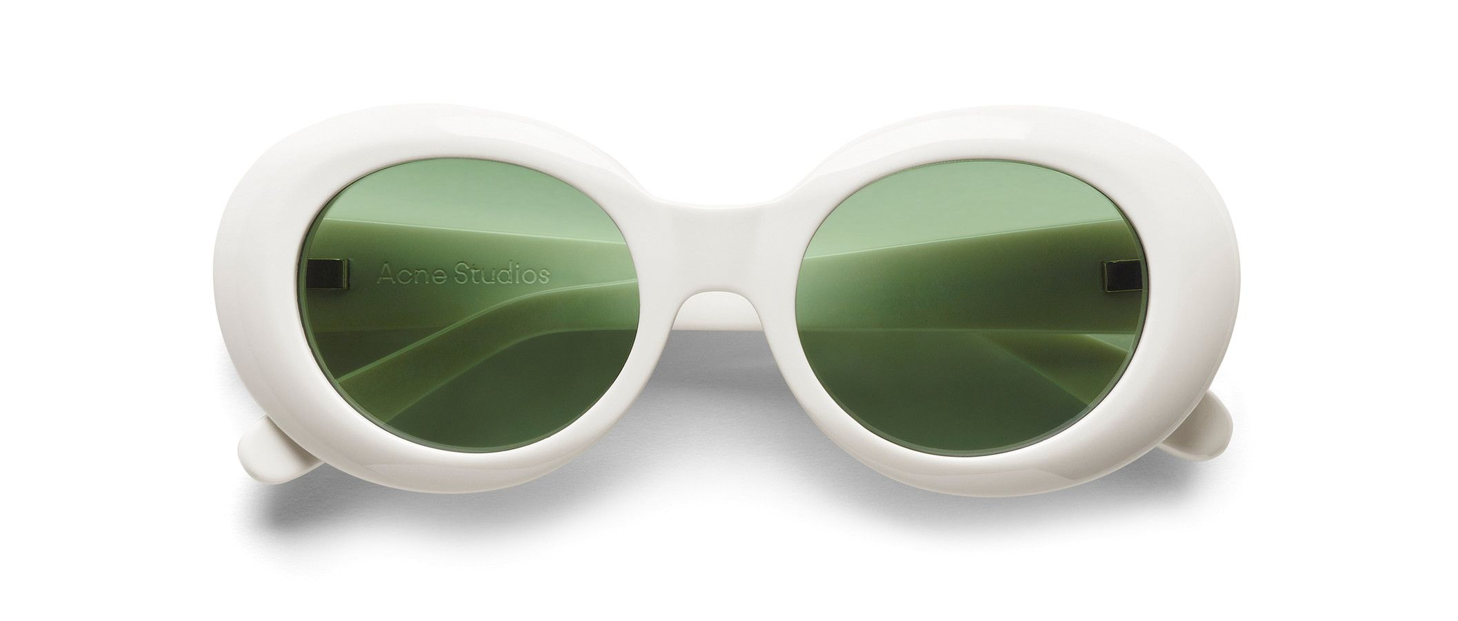 58f7e393be11b Acne Studios Mustang Off White Round frame acetate sunglasses