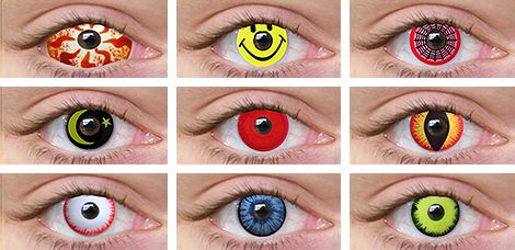 Wild Crazy Eye Contacts Contact Lenses Halloween Contact Lenses Contact Lenses Colored Halloween Contacts