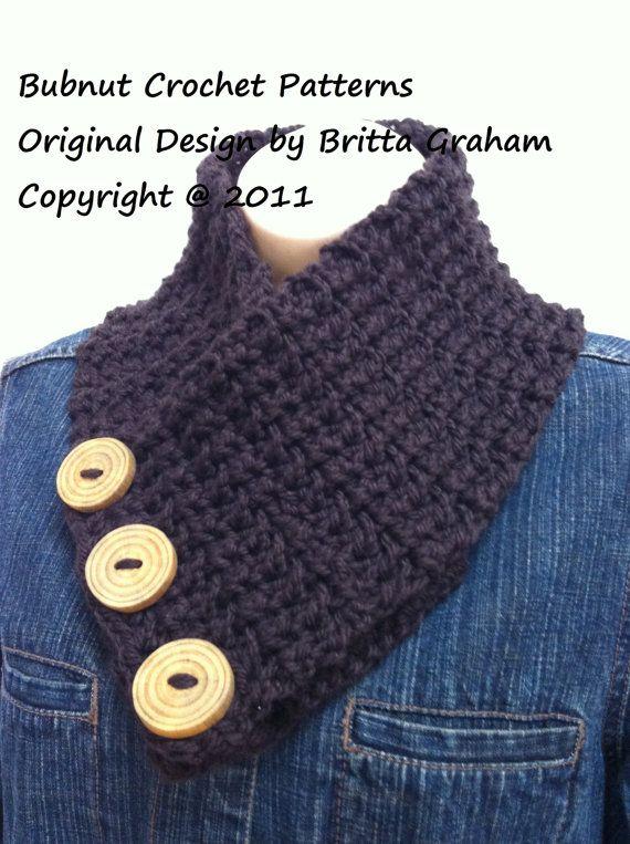 cuello con botones | crochet | Pinterest