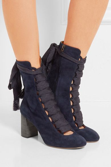 Manchester cheap online Chloé Lace-Tie Ankle Boots fake sale visa payment BJE0B