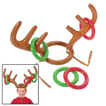 Inflatable Reindeer Antlers Hat Ring Christmas Xmas Party Game Toys Kids Gifts